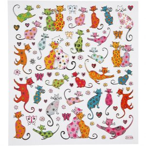 Hobbyfun Fancy stickers, katten