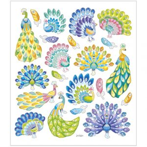 Hobbyfun Fancy stickers, pauwen