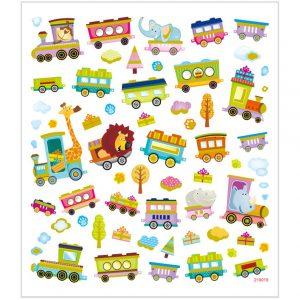 Hobbyfun Fancy stickers, trein-met-dieren