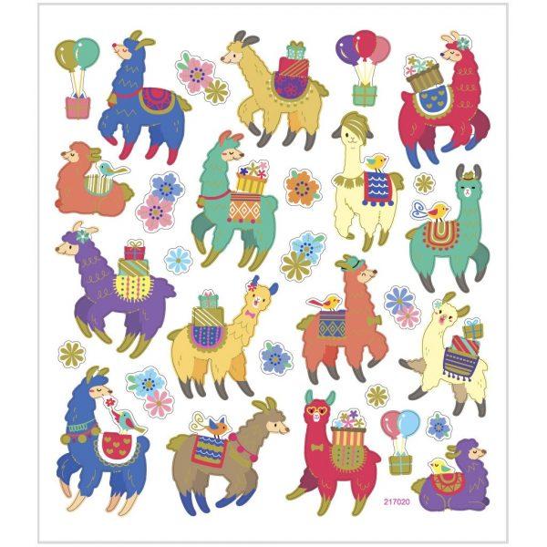 Hobbyfun Fancy stickers, lama's