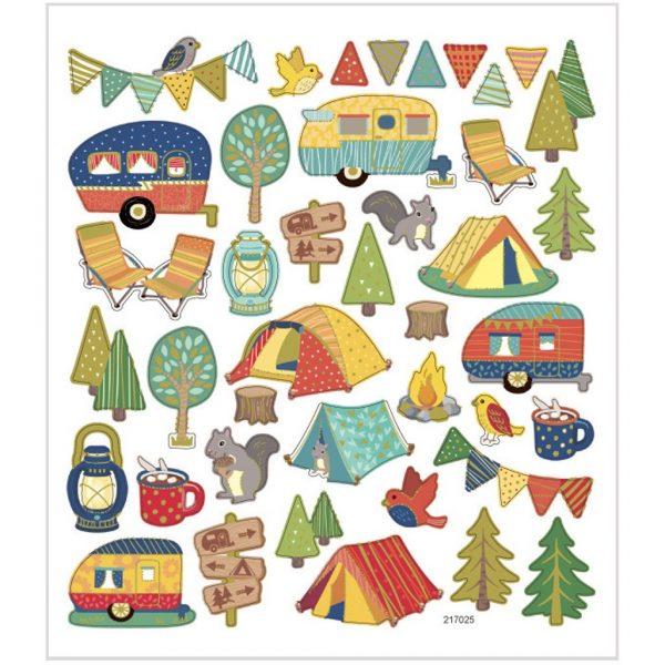Hobbyfun Fancy stickers, camping
