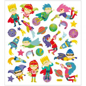 Hobbyfun Fancy stickers, superhelden