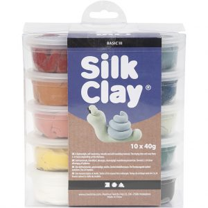 Hobbyfun Silk Clay® nature kleuren, 10x40 gr.