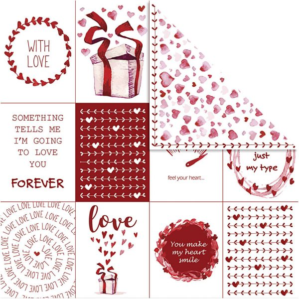 Hobbyfun Design Papier, Vivi gade, Love & Harten