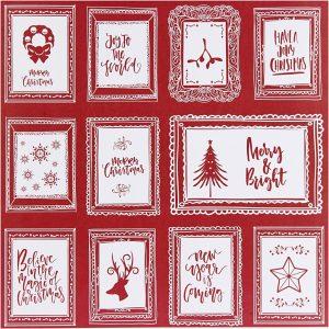 Hobbyfun Vivi Gade Design Papier, kerstlijsten tekst
