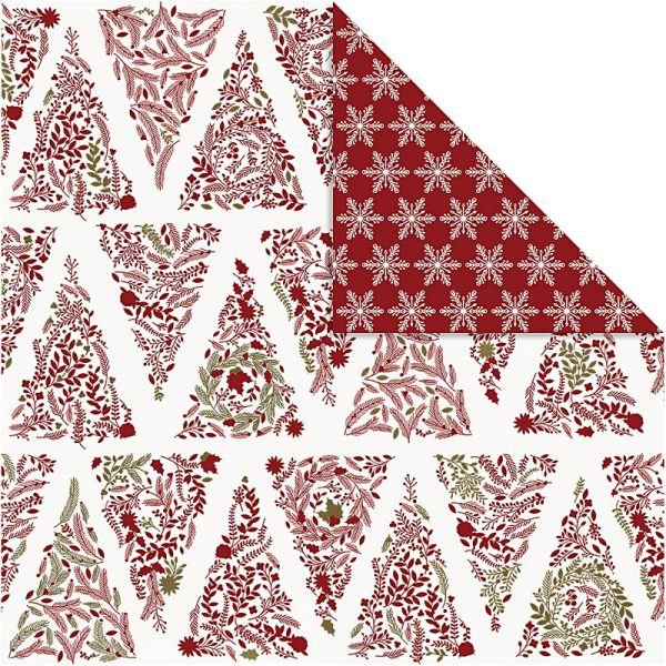 Hobbyfun Design Papier, kerstbomen