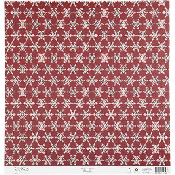 Hobbyfun Design Papier, kerstbomen, achterkant