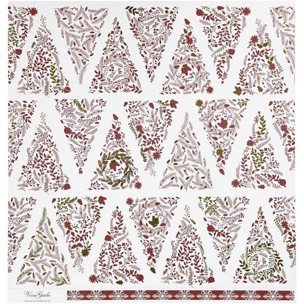 Hobbyfun Design Papier, kerstbomen, voorkant