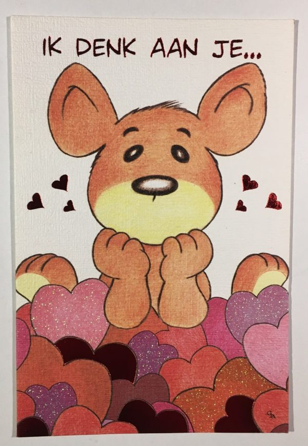 Hobbyfun 2861 Valentijnskaart, Denk aan je