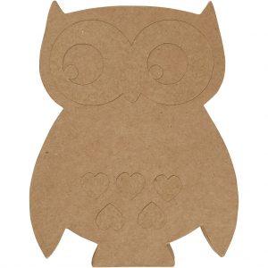 56184 Hobbyfun Papier-maché Uil, H: 27cm,