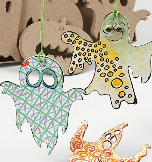 99090 Hobbyfun Halloween decoraties, papier-maché