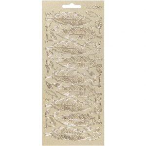 170190 Hobbyfun Contour stickers, veren, goud