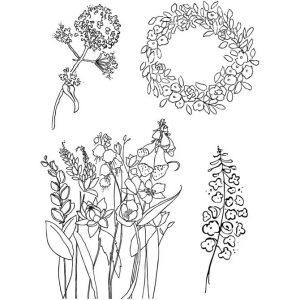 240012 Hobbyfun Silicone stempels bloemen
