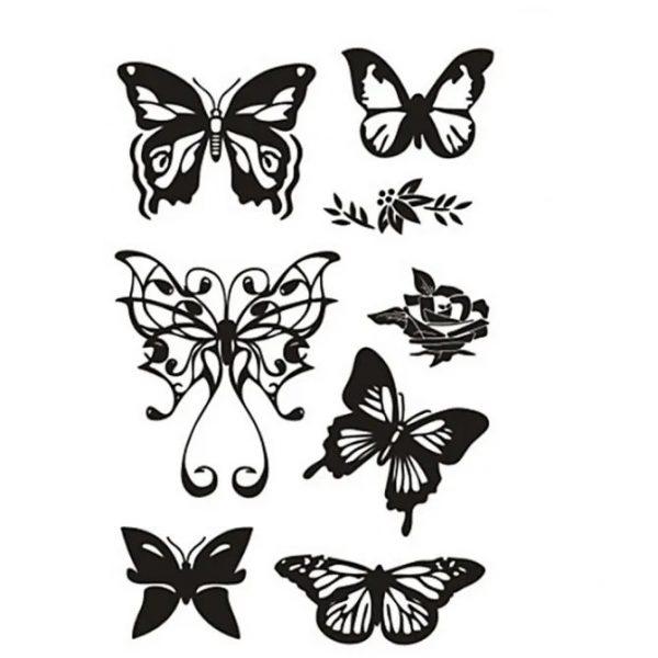 240021 Hobbyfun Silicone stempels vlinders
