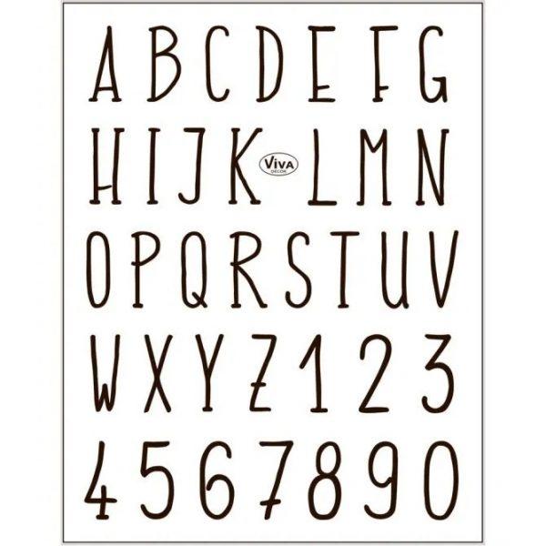 24423 Hobbyfun Silicone stempels Alfabet en Cijfers