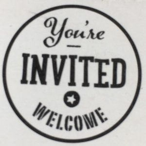 27567_2 Hobbyfun Stempel Welcome, You're invited