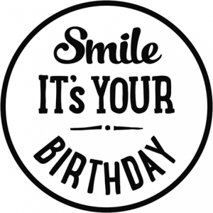 27566_2 Hobbyfun Stempel Smile It's your birthday