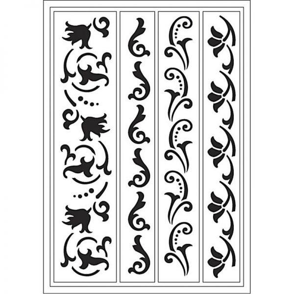 400400700_1 Hobbyfun, Flexibel sjabloon decoratieve randen