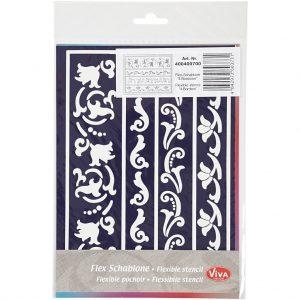 400400700 Hobbyfun, Flexibel sjabloon decoratieve randen