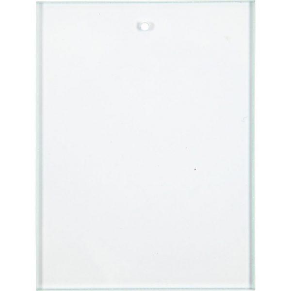 55801 Hobbyfun Glazen hanger, rechthoek, 8x6cm
