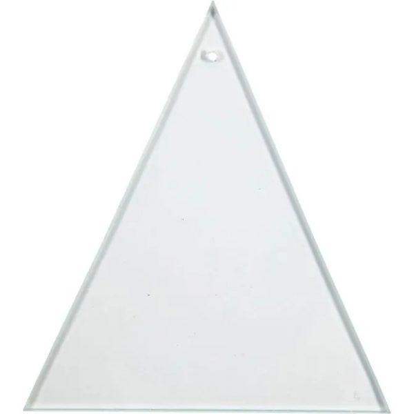 55803 Hobbyfun Glazen hanger, driehoek, 8x9cm